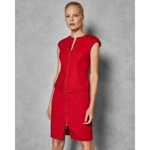 Ted Baker Structured zip peplum dress Size 12 $315